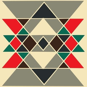 tribal triangle cream