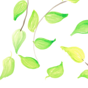 Natural chartreuse and Kelly leaves