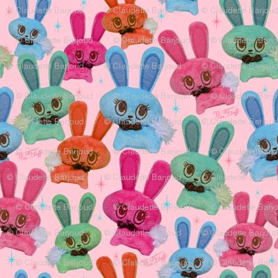 Retro Plush Candy Bunnies