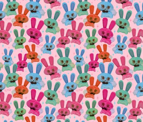 Retro Plush Candy Bunnies fabric by miss_fluff on Spoonflower - custom fabric
