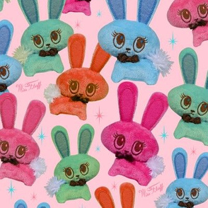 Retro Plush Candy Bunnies