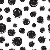Polka dots black circles