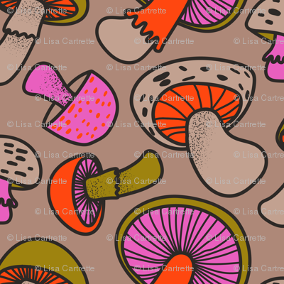 Retro Mushrooms