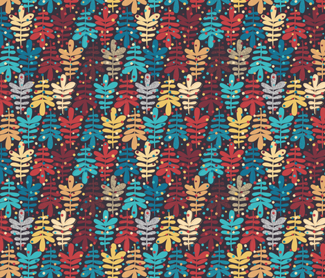 autumn leaves fabric by gisellehuberman on Spoonflower - custom fabric