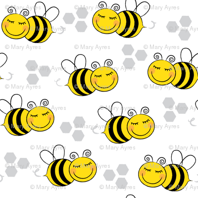 bees-with-hexagons
