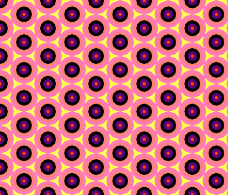 colorful_orange_purple_pink_yellow_circles fabric by southernfabricdiva on Spoonflower - custom fabric