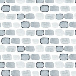 Gray Grey Block Spots stone watercolor wall on white paint_Miss Chiff Designs