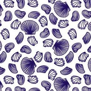 Seashells (purple on white)