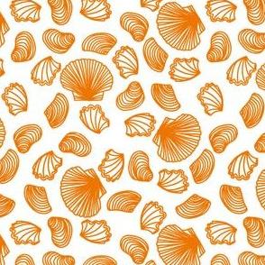 Seashells (orange on white)