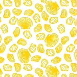 Seashells (yellow on white)