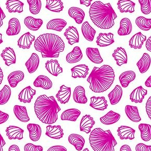 Seashells (pink on white)