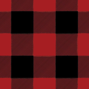 Large Buffalo Check Flannel Plaid Red Black