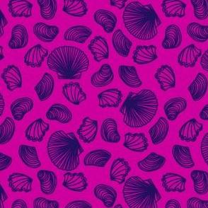 Seashells (purple on pink)
