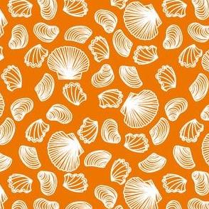 Seashells (white on orange)