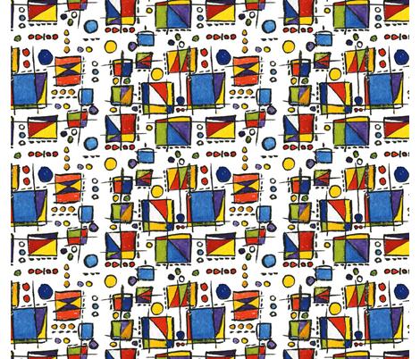 ChannelingMondrian fabric by backyarddesigner on Spoonflower - custom fabric