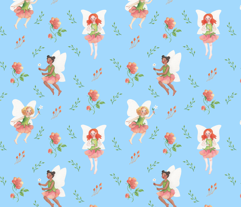 Flower Fairies fabric by sarah_pogue on Spoonflower - custom fabric