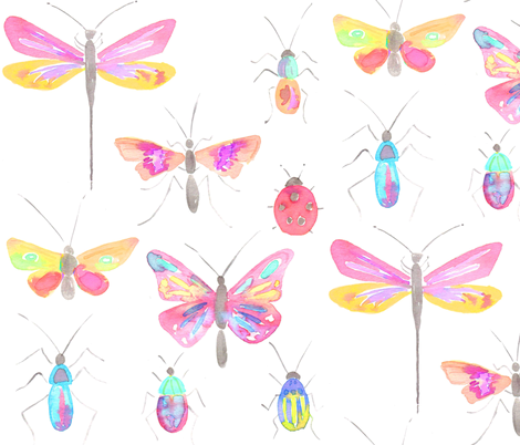 pretty bugs fabric by erinanne on Spoonflower - custom fabric
