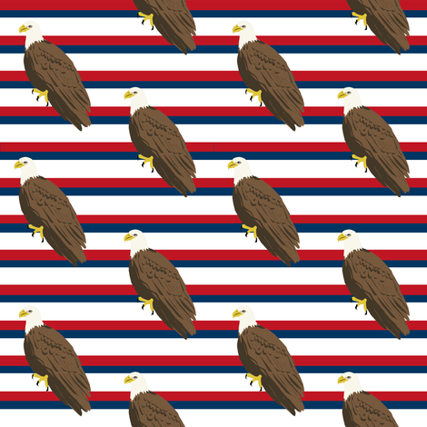 eagle fabric july 4 america patriotic fabric stripes fabric by charlottewinter on Spoonflower - custom fabric