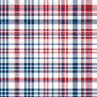 plaid navy and red america usa gingham plaid fabric