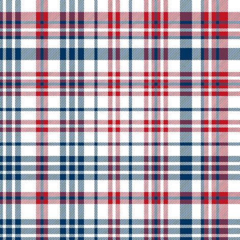 plaid navy and red america usa gingham plaid fabric fabric by charlottewinter on Spoonflower - custom fabric