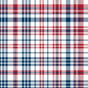 plaid navy and red america usa gingham plaid fabric
