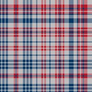 plaid navy and red america usa gingham plaid fabric grey