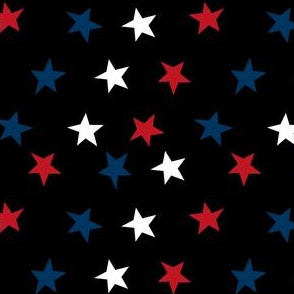 stars usa merica america fabric red white and blue  black