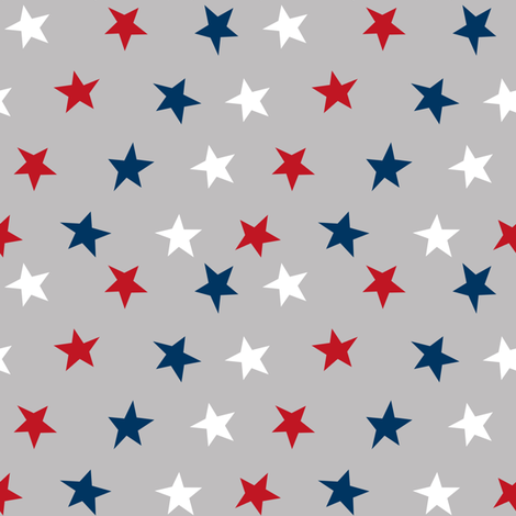 stars usa merica america fabric red white and blue  fabric by charlottewinter on Spoonflower - custom fabric