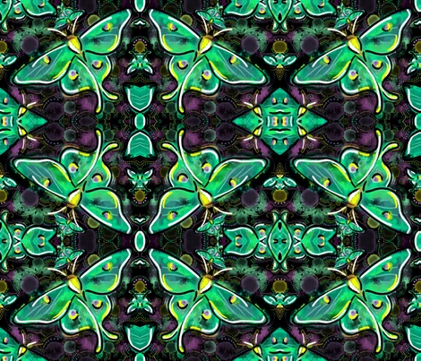 Luna moth dance fabric by beesocks on Spoonflower - custom fabric