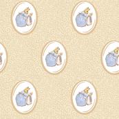 Mother Rabbit and Peter - Kraft / Light Tan Scrolls and Frames