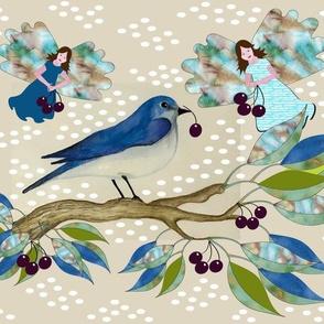 Bluebird Dream with Fairies