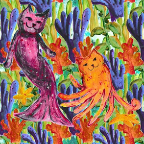 Mystical Creatures Mer-cat and Octo-kitty