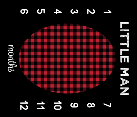 "42"" - Little Man Buffalo Plaid - watch me grow blanket  fabric by littlearrowdesign on Spoonflower - custom fabric"
