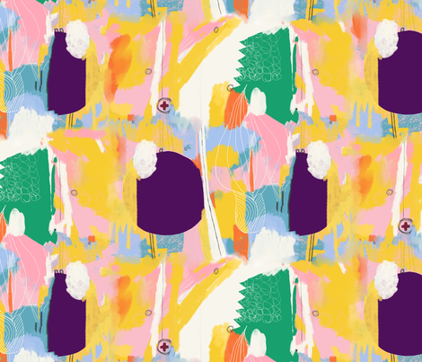 Niji Arum Maculatum fabric by zoe_ingram on Spoonflower - custom fabric