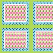 Kiwi polka dots 10 - ocean polka berry  framed green white