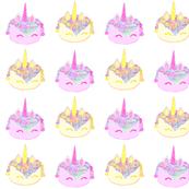 Unicorn cakes in pastel colors