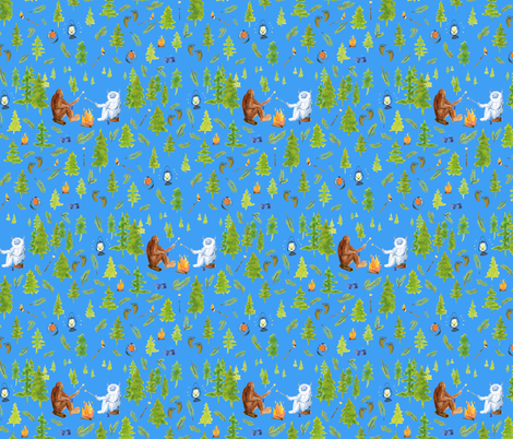 annual camping trip med polar blue fabric by ghouk on Spoonflower - custom fabric