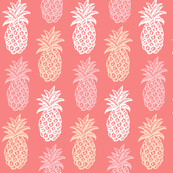 Coral Tropical Pineapples //