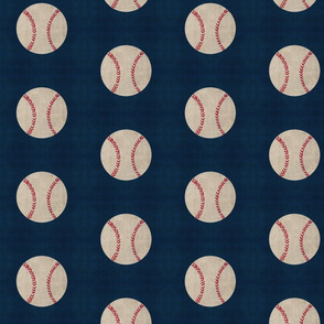 baseball vintage navy - Large 467