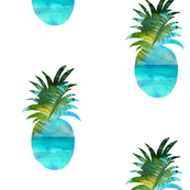 Seascape Pineapple tropical Print