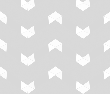 White on Grey fox fabric by twigsandblossoms on Spoonflower - custom fabric