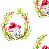 Cute Woodland Mouse Scene