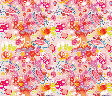 Vibrant summer fabric by camcreative on Spoonflower - custom fabric