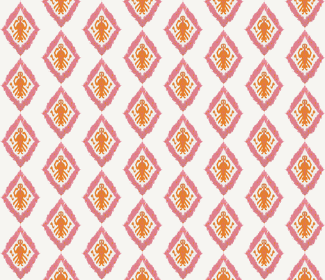 Summer Concert Ikat fabric by lisakling on Spoonflower - custom fabric
