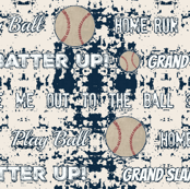 vintage stadium wall  baseball and text  LARGE 10