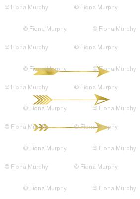 Gold Foil Arrows