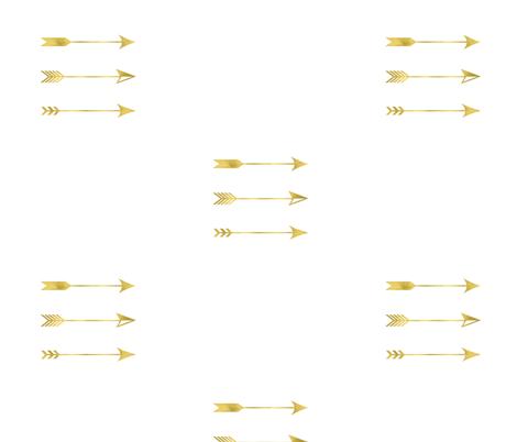 Gold Foil Arrows fabric by sew_delightful on Spoonflower - custom fabric