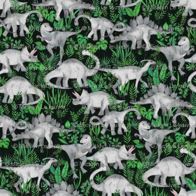 Extra Tiny Dinosaur Jungle green
