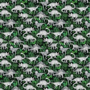 Extra Tiny Dinosaur Jungle green