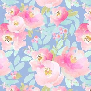Indy Bloom Plush Pink Florals Lavender B